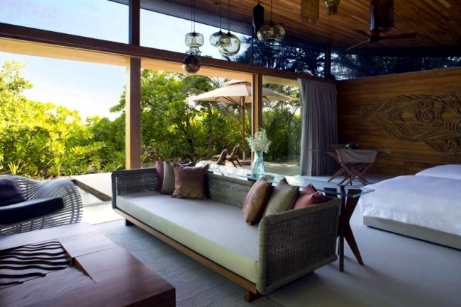 Rot Sessel Innendesign modern Villa