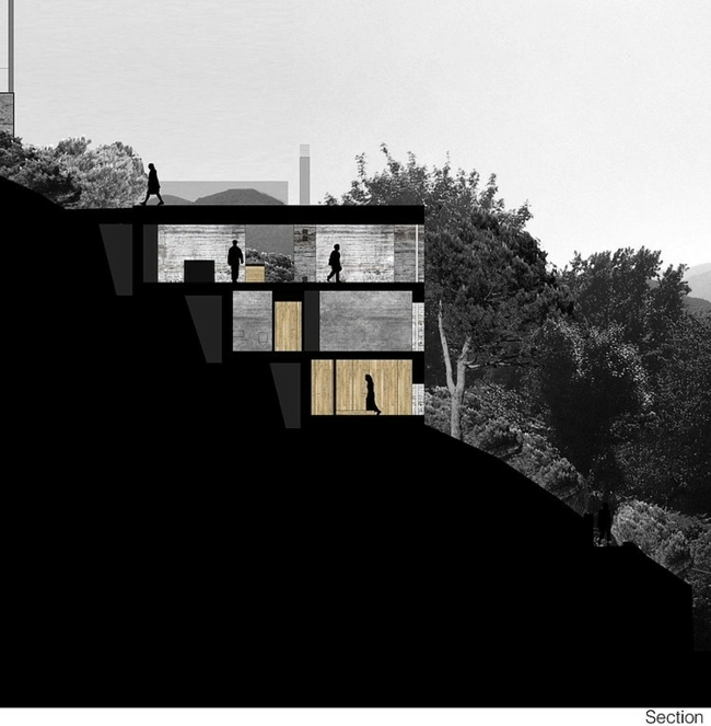 Concrete house with lake view - excellent architecture from Switzerland
