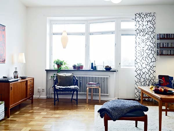 Small apartment decorated