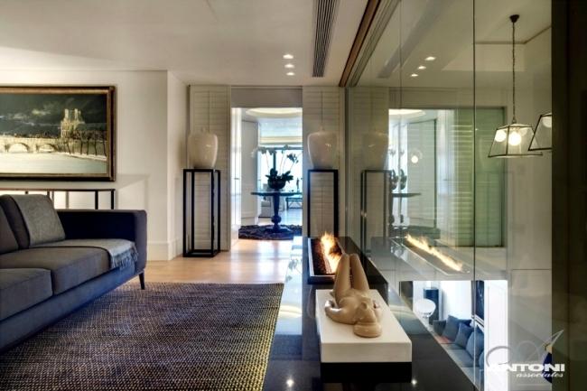 Contemporary beach house offers elegantly designed living area