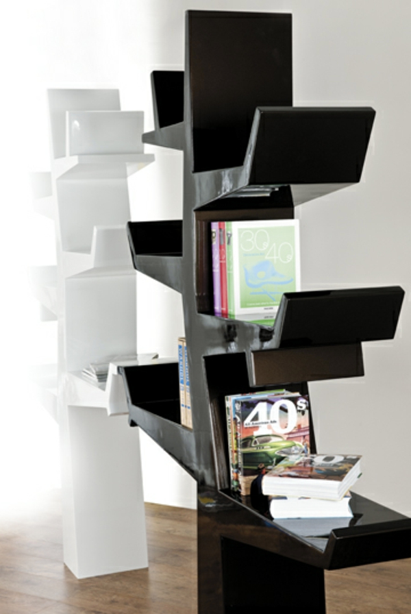 Contemporary bookcase with original design resembles a tree