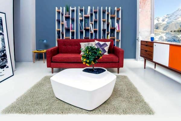 Contemporary coffee tables with built-in garden - living ideas and Nature