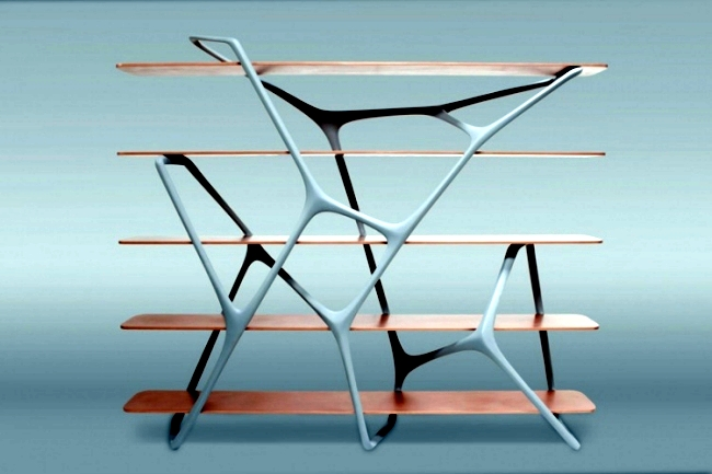 Contemporary shelf design inspired by the basic structures in nature ...