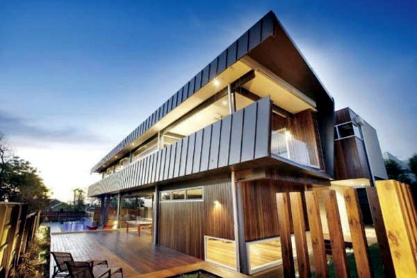 Contemporary wooden house build what advantages does the for What is needed to build a house