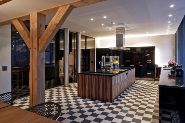 Converted farmhouse with modern interior design in Switzerland