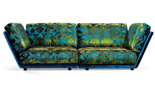 Cool designer sofas in vibrant colors of Bretz and Riva