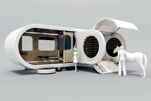 Cool high-tech campers or the future of camping holidays