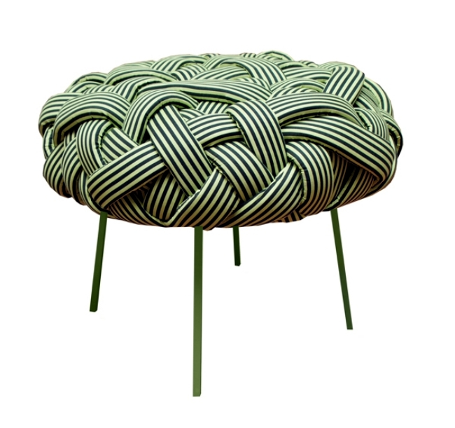 Cool seating design from the cloud collection with woven pattern