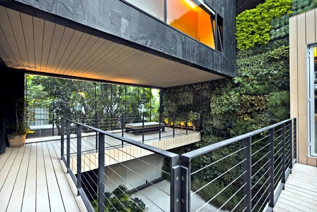 CorManca-sustainable solar house with green roof in Mexico City