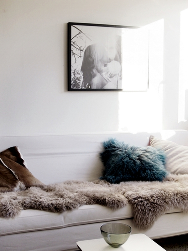 Cozy At Home With Knitting Wool And Fur Furniture