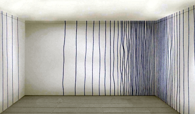 Crayon drawing on the wall - Wallpaper pattern design of rollout