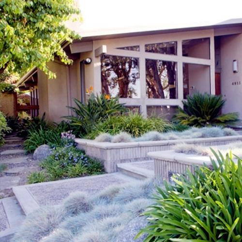 Creating a beautiful garden at the entrance - garden design in the atrium