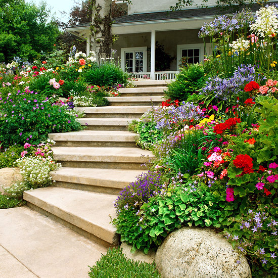 Creating a garden on a slope ideas and optimal solutions for Garden design solutions