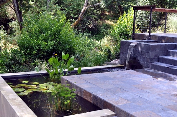 Creating a garden pond original ideas for modern garden for Modern fish pond ideas