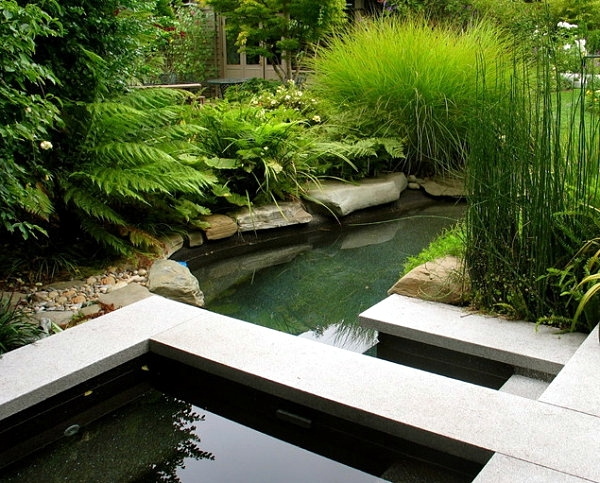 Creating a garden pond original ideas for modern garden for Contemporary koi pond design