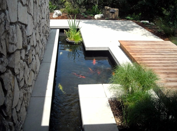 Creating a garden pond - original ideas for modern garden design