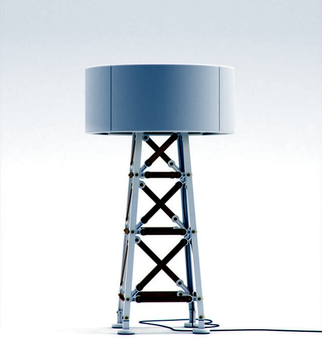 Creative Design floor lamp by Moooi is reminiscent of a power pole