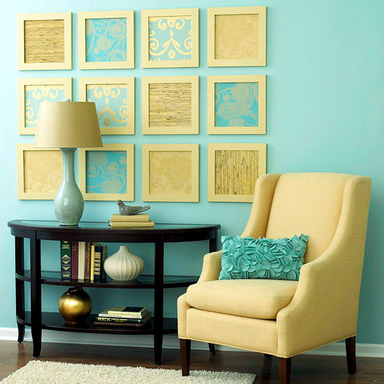 Creative wall design in the living room – ideas for colorful ...