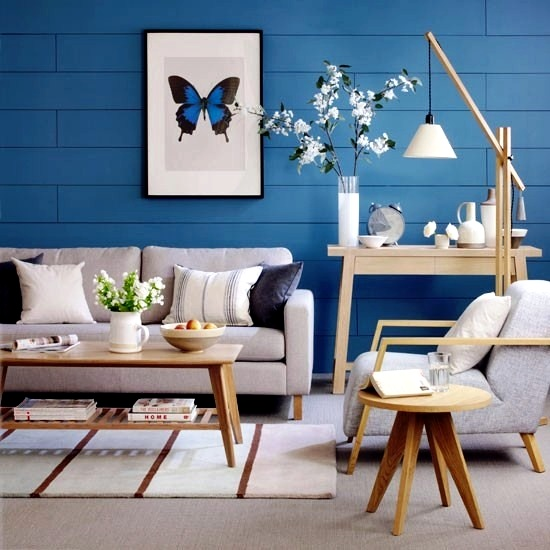 Creative Wall Design In The Living Room   Ideas For Colorful Wallpapers Part 66