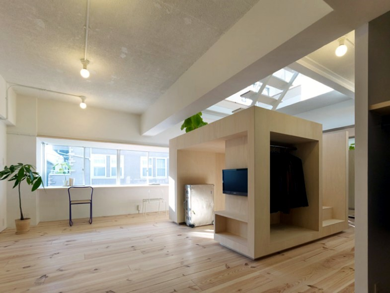 Cube-shaped house in Tokyo