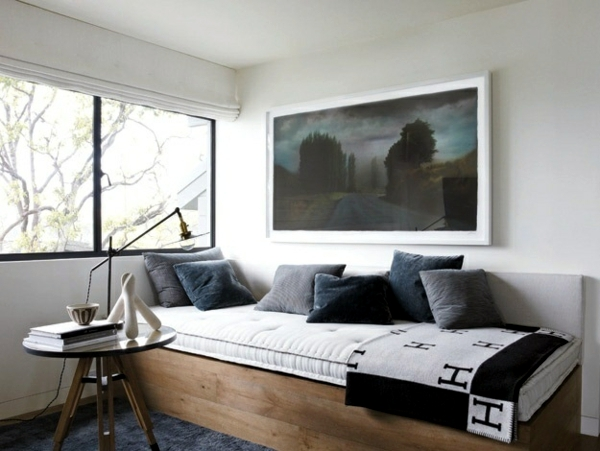 Day bed design ideas for cozy reading corner in the house or garden