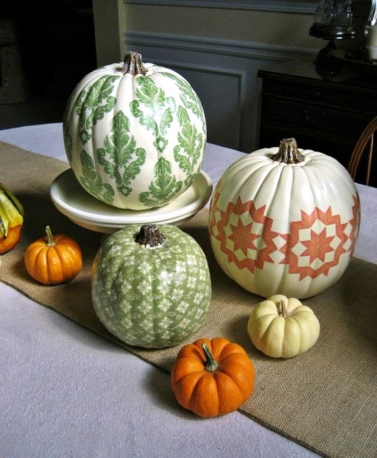 decorate pumpkins 30 fall ideas with paint rhinestones