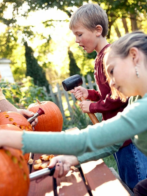 Decorate pumpkins without carving - Crafts with children in autumn