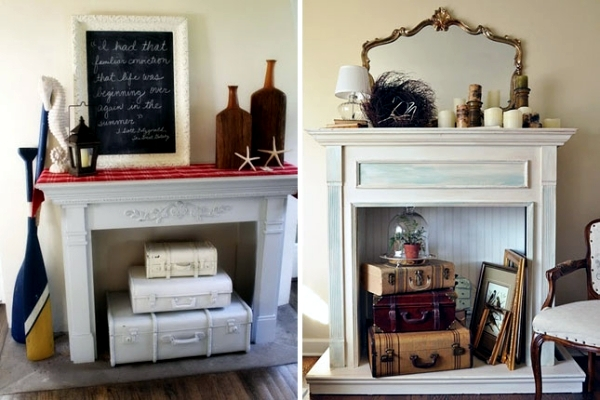 Decorate The Unused Fireplace In The Living Room 20