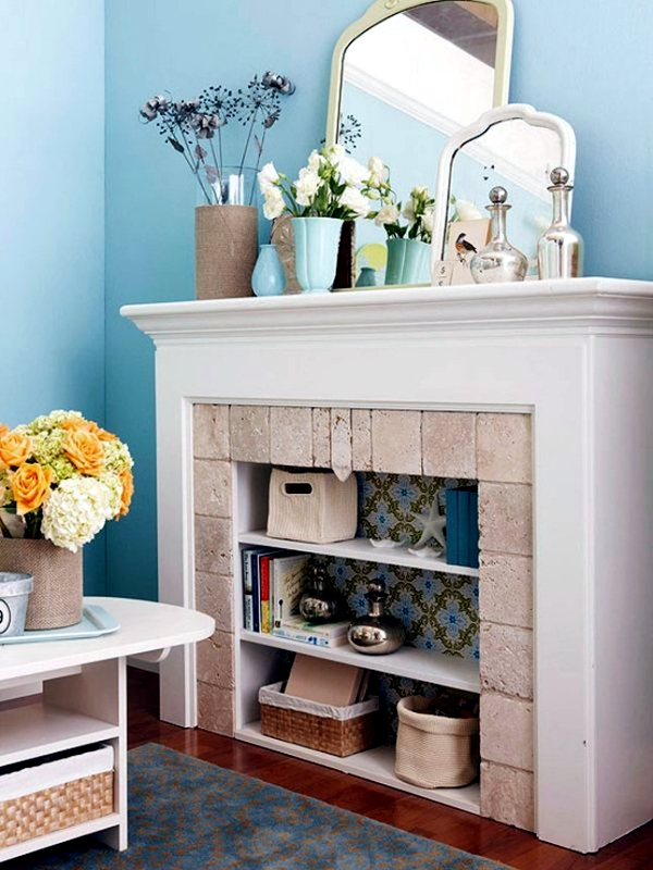Decorate The Unused Fireplace In Living Room 20 Creative Decorating Ideas
