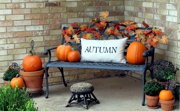 Decorating in the fall - 40 ideas for autumn atmosphere outdoors