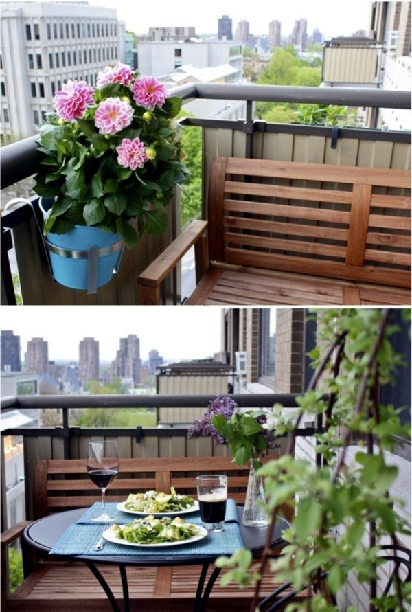 Decoration for balcony and balcony table – 15 ideas for cozier ...