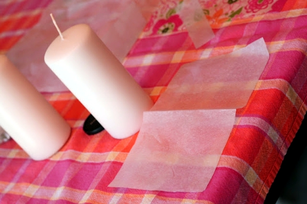 Decoration ideas for arts and crafts with children - make own candles
