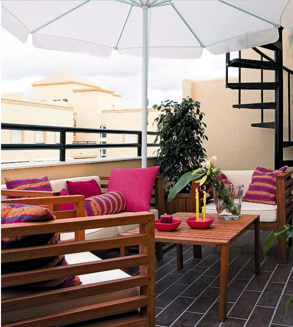 Decoration ideas for balcony table - set up the patio at home nice
