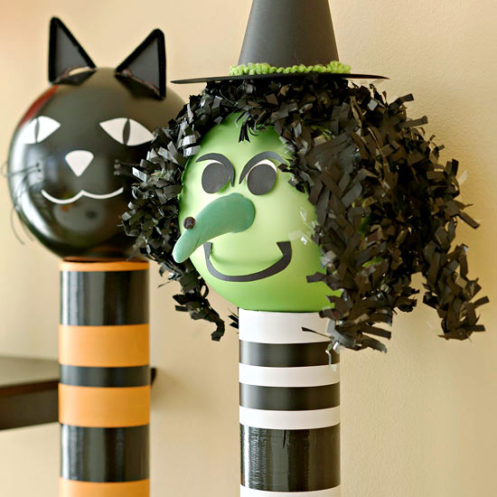 Decorating Paper Crafts For Home Decoration Interior Room: Decoration Ideas For Halloween Party With Witches