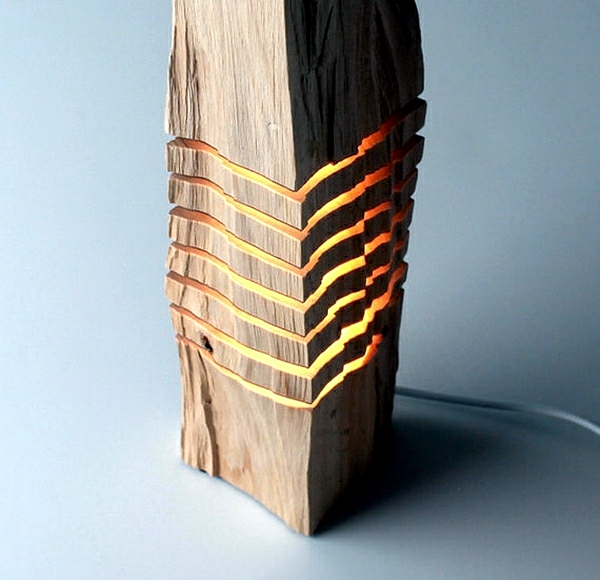 Decoration made of wood, rustic sculptures reveal the beauty of the natural material