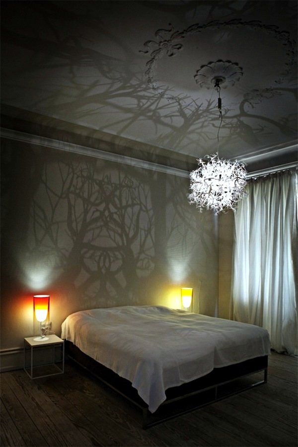 Decorative lights play stunning with light and shadow