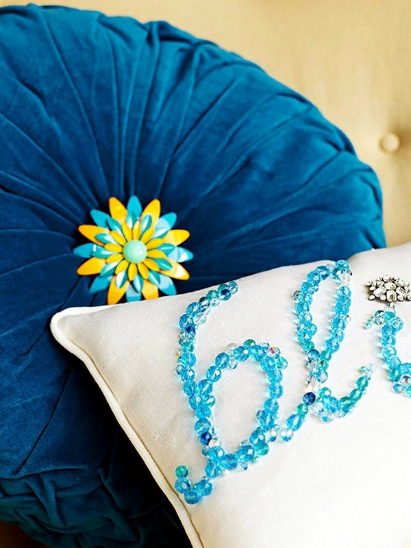 Decorative pillows make yourself - craft ideas for chic interiors