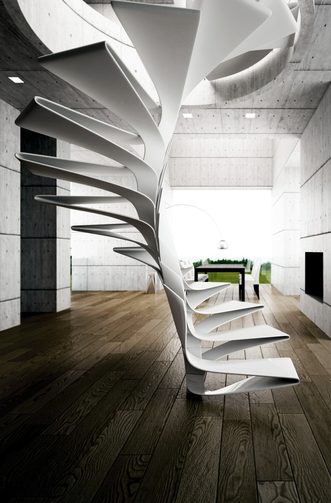 Design concept for a spiral staircase made of fiberglass ...