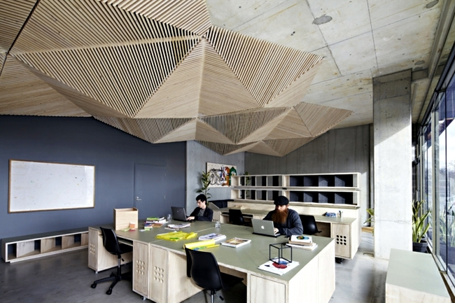 Design idea inspired by the origami art - Suspended ceiling