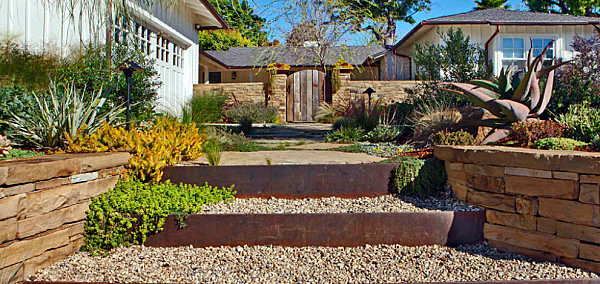 Design ideas for the front yard samples for inviting gardens