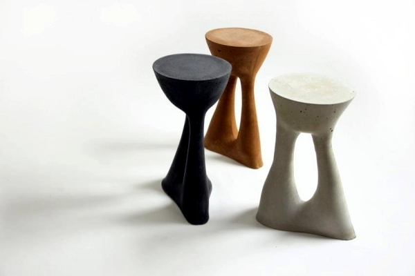 "Design side table ""ridges"" creative solution for indoor and outdoor spaces"