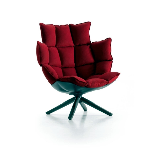 Designer armchair HUSK in three versions - indoor, outdoor and chair