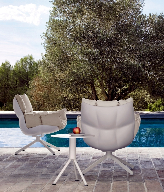 Designer armchair HUSK in three versions - indoor, outdoor and chair