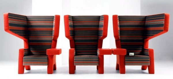 Designer chair with armrests for a stylish look in the living room