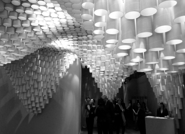 Designer chandelier made of paper - Architecture meets art