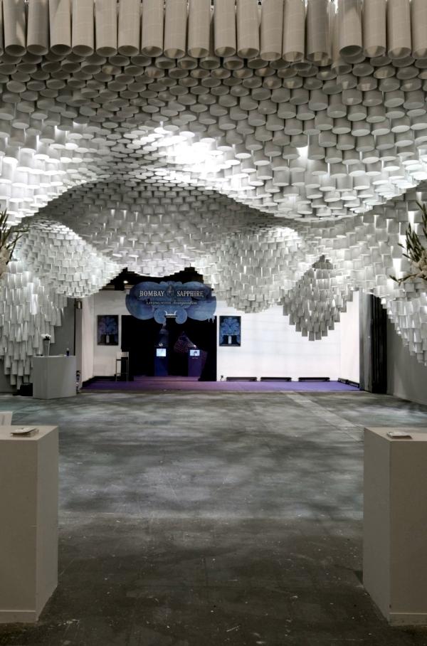Designer chandelier made of paper - Architecture meets art