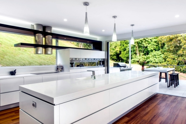 The Simple Design Keeps Elements Of The Kitchen And The Uniform Of The  Terrace. Aluminum Strips In Wardrobes And Door Panels Provide A Seamless  Visual ...