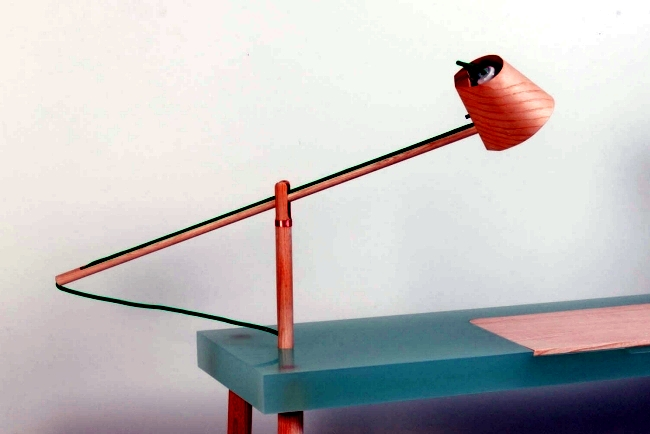 Designer desk with integrated light by Roel Huisman