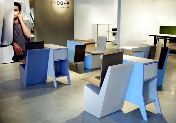 Superior Designer Furniture   Composition Of Desk, Swivel Chair And Shelf