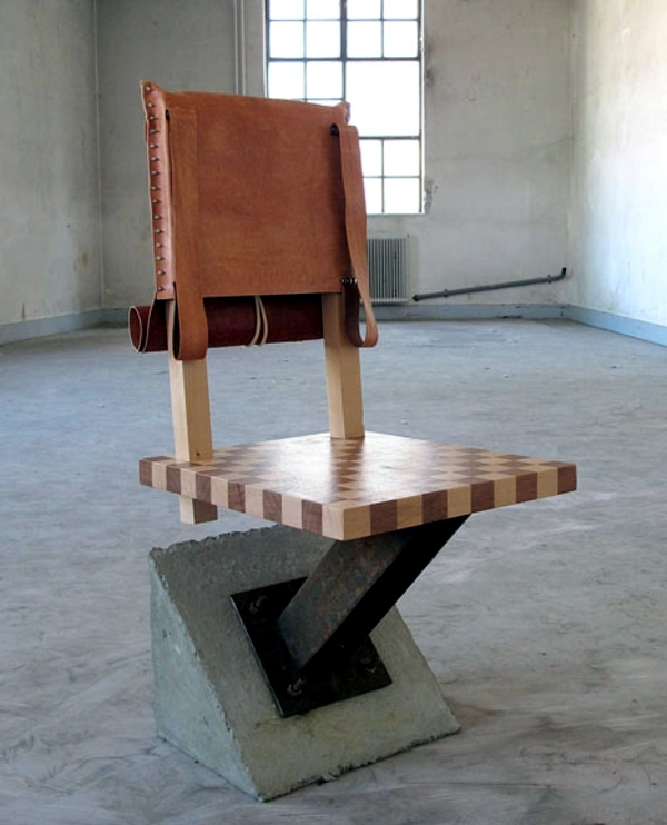 Designer Furniture - eclectic blend of table, chair and lamp